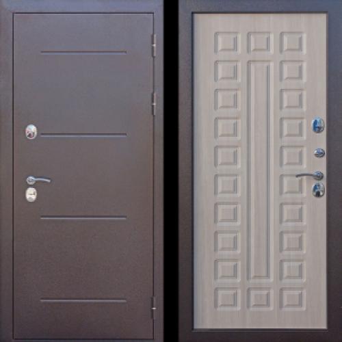 Увеличить - Входная дверь c ТЕРМОРАЗРЫВОМ 11 см Isoterma медный антик Лиственница мокко