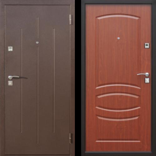 Увеличить - Дверь входная металлическая Стройгост 7-2 Итальянский Орех