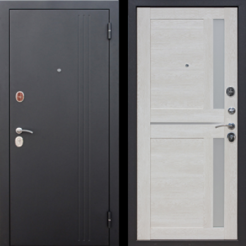 Увеличить - Входная дверь 7,5 см НЬЮ-ЙОРК Царга Каштан перламутр