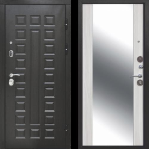 Увеличить - Входная дверь 12 см СЕНАТОР ЗЕРКАЛО (Венге/Дуб сонома)