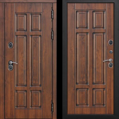 Увеличить - Входная морозостойкая дверь c ТЕРМОРАЗРЫВОМ 13 см Isoterma МДФ/МДФ Грецкий орех