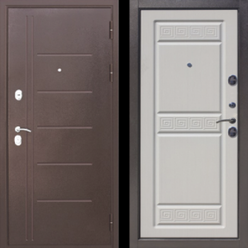 Увеличить - Входная дверь 10 см Троя Антик Белый Ясень