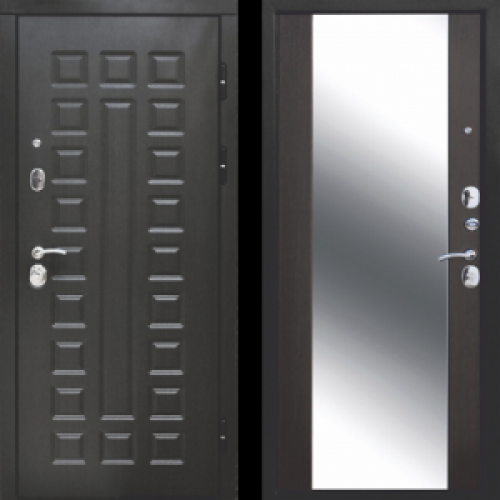 Увеличить - Входная дверь 12 см СЕНАТОР ЗЕРКАЛО (Венге/Венге)
