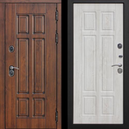 Увеличить - Входная морозостойкая дверь c ТЕРМОРАЗРЫВОМ 13 см Isoterma МДФ/МДФ Сосна белая