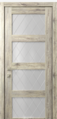 Кантри 8, стекло Ромбы